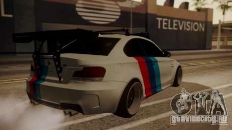 BMW 1M E82 with Sunroof для GTA San Andreas вид сбоку