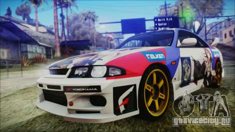 Nissan Skyline R33 Kantai Collection Kongou PJ для GTA San Andreas вид изнутри