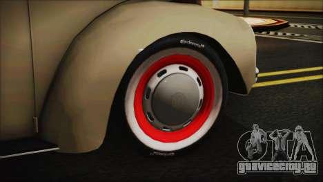 Volkswagen Beetle 1973 для GTA San Andreas вид сзади слева
