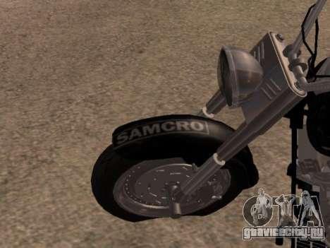 Harley Davidson Fat Boy Sons Of Anarchy для GTA San Andreas вид сзади