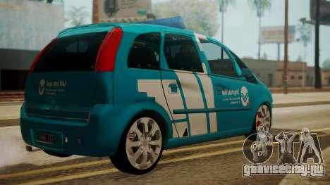 Chevrolet Meriva de Seguridad Vial для GTA San Andreas вид слева