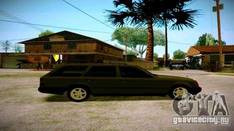 Merсedes-Benz E200 W124 для GTA San Andreas вид сзади слева