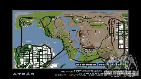 HD радар карта для GTA San Andreas шестой скриншот