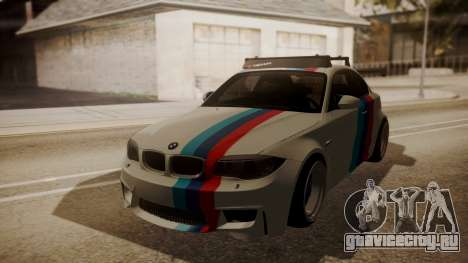 BMW 1M E82 with Sunroof для GTA San Andreas вид изнутри