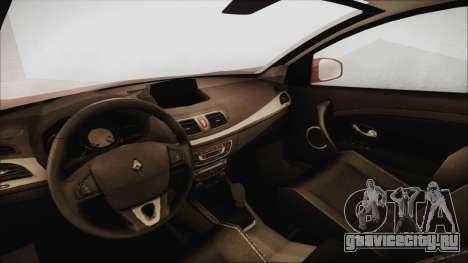 Renault Megane 3 для GTA San Andreas вид справа
