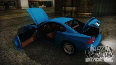 Ford Mustang GT 1993 v1.1 для GTA San Andreas вид изнутри