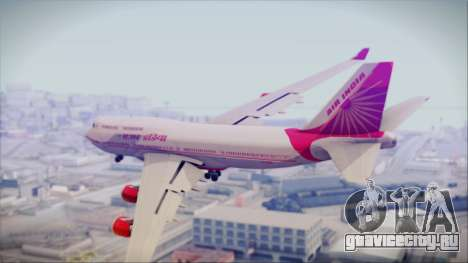 Boeing 747-437 Air India Tanjore Old Skin для GTA San Andreas вид слева