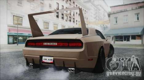 Dodge Challenger Daytona для GTA San Andreas вид сзади слева
