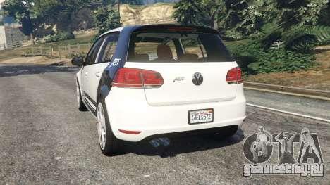Volkswagen Golf Mk6 v2.0 [ABT] для GTA 5 вид сзади слева