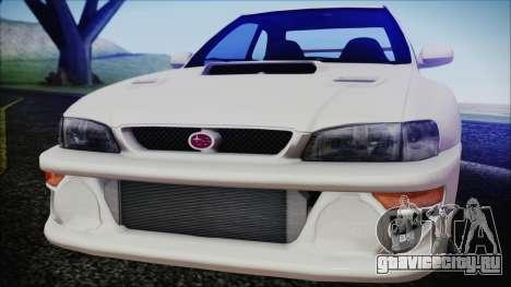 Subaru Impreza 22B STi для GTA San Andreas вид сзади слева
