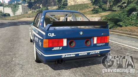 BMW M3 (E30) 1991 [Jeschke] v1.2 для GTA 5 вид сзади слева