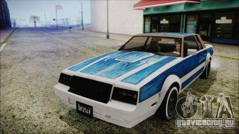 GTA 5 Willard Faction Custom Bobble Version IVF для GTA San Andreas вид сзади