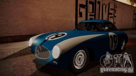 Mercedes-Benz 300 SL (W194) 1952 HQLM для GTA San Andreas вид изнутри
