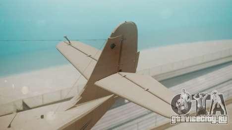 Grumman G-21 Goose WhiteBlueLines для GTA San Andreas вид сзади слева