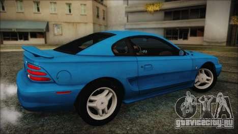 Ford Mustang GT 1993 v1.1 для GTA San Andreas вид сзади слева