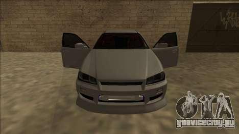 Nissan Skyline ER34 Drift для GTA San Andreas вид изнутри