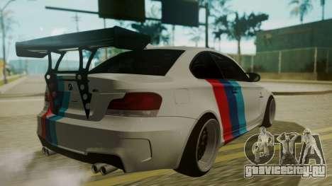 BMW 1M E82 without Sunroof для GTA San Andreas вид сбоку