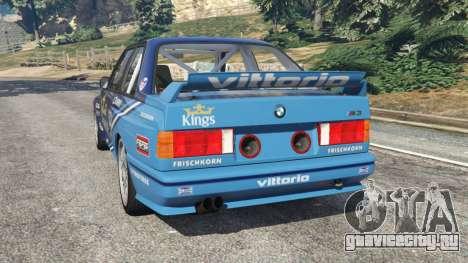 BMW M3 (E30) 1991 [Kings] v1.2 для GTA 5 вид сзади слева