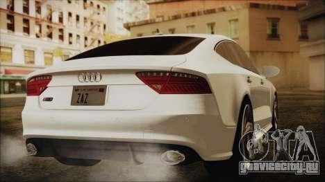 Audi RS7 Sportback 2015 для GTA San Andreas вид слева