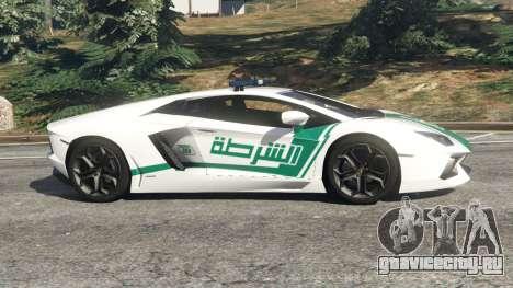 Lamborghini Aventador LP700-4 Dubai Police v5.5 для GTA 5 вид слева