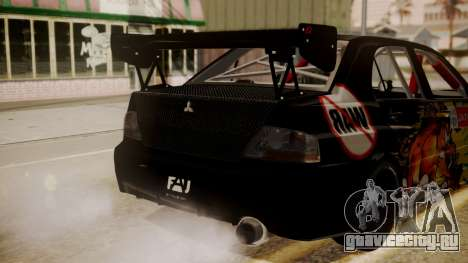 Mitsubishi Lancer Evolution Pushkar для GTA San Andreas вид сзади