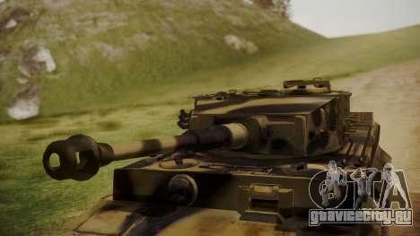 Panzerkampfwagen VI Tiger Ausf. H1 No Interior для GTA San Andreas вид справа