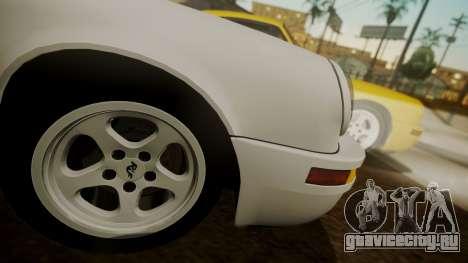 RUF CTR Yellowbird (911) 1987 HQLM для GTA San Andreas вид сзади слева