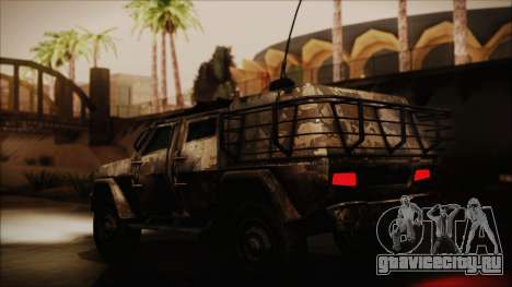Joint Light Tactical Vehicle для GTA San Andreas вид сзади слева
