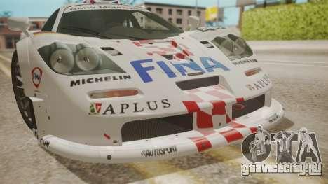 McLaren F1 GTR 1998 Team BMW для GTA San Andreas вид сбоку