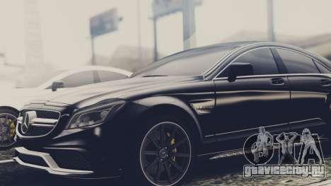 Mercedes-Benz CLS 63 AMG W218 для GTA San Andreas вид сзади слева