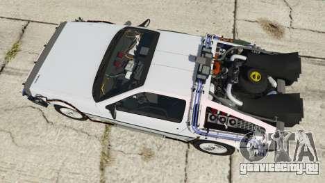 DeLorean DMC-12 Back To The Future для GTA 5 вид сзади