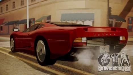 Jaguar XJ220 1992 HQLM для GTA San Andreas вид слева
