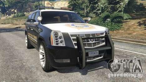 Cadillac Escalade ESV 2012 Police для GTA 5