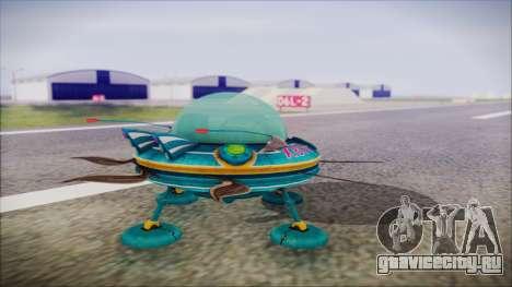 X808 UFO для GTA San Andreas вид слева