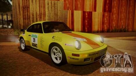 RUF CTR Yellowbird (911) 1987 HQLM для GTA San Andreas вид снизу