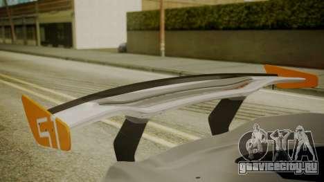 McLaren P1 GTR 2015 для GTA San Andreas вид сзади