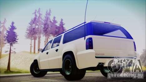 GTA 5 Declasse Granger FIB SUV для GTA San Andreas вид слева