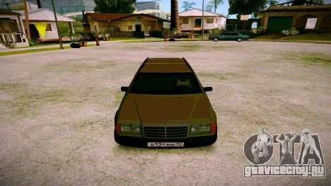 Merсedes-Benz E200 W124 для GTA San Andreas вид сзади