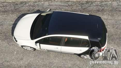 Volkswagen Golf Mk6 v2.0 [ABT] для GTA 5 вид сзади