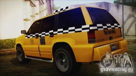Albany Cavalcade Taxi (Saints Row 4 Style) для GTA San Andreas вид слева