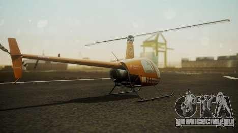Robinson R-22 de Seguridad Vial для GTA San Andreas вид слева