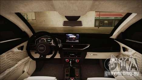 Audi RS7 Sportback 2015 для GTA San Andreas вид сверху