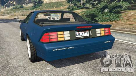 Chevrolet Camaro IROC-Z [Beta 3] для GTA 5 вид сзади слева