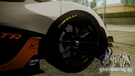 McLaren P1 GTR 2015 для GTA San Andreas вид сзади слева