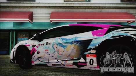 Lamborghini Gallardo LP570-4 2015 Miku Racing для GTA San Andreas вид сзади слева