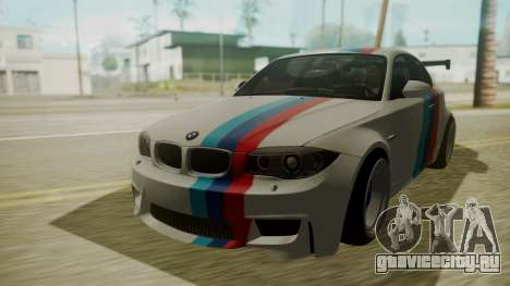BMW 1M E82 without Sunroof для GTA San Andreas вид изнутри
