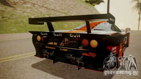 McLaren F1 GTR 1998 Gulf Team для GTA San Andreas вид сбоку