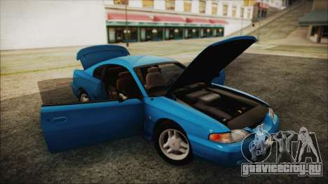 Ford Mustang GT 1993 v1.1 для GTA San Andreas вид сзади