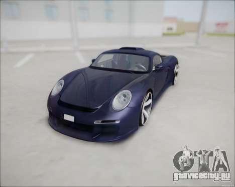 Ruf CTR 3 2015 для GTA San Andreas вид сзади