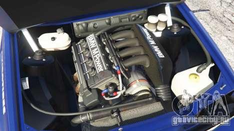 BMW M3 (E30) 1991 [Kings] v1.2 для GTA 5 вид сзади справа